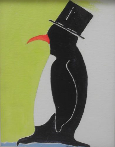 Penguin with tophat